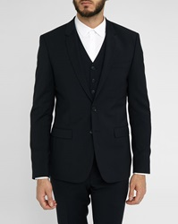 Sandro Navy Notch Suit Jacket