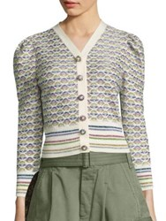 Marc Jacobs Psychadelic Flower Cardigan White Multi