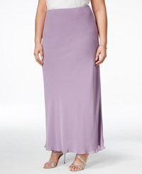 Alex Evenings Plus Size Evening Maxi Skirt Icy Orchid