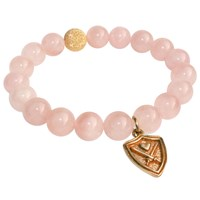 Aiden Chase Wizardly Rose Quartz Bracelet Gold