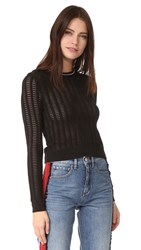 Carven Long Sleeve Sweater Noir