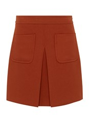 Hallhuber A Line Skirt With Patch Pockets Red