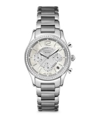 Breil Milano Miglia Crystal And Stainless Steel Chronograph Bracelet Watch Silver