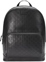 Gucci Signature Backpack Black