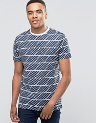 New Look T Shirt In Navy With Geo Print Navy