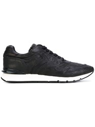 Voile Blanche Textured Sneakers Men Leather Rubber 44 Black