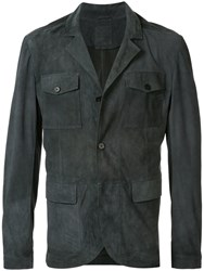 Desa 1972 Buttoned Leather Jacket Grey