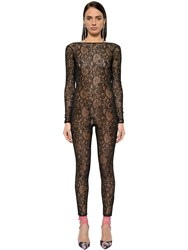 Msgm Sheer Lace Jumpsuit