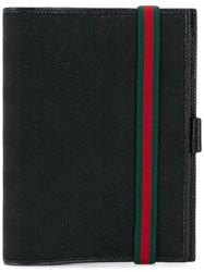 Gucci Web Detail Document Holder Black