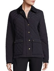 Vineyard Vines Corduroy Collar Quilted Jacket Jet Black