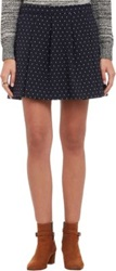 Thakoon Dot Jacquard Box Pleat Mini Skirt Multi