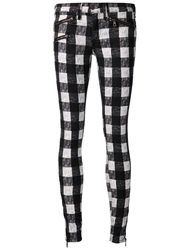 Rag And Bone Jean Plaid Skinny Trousers Black