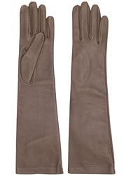 Rochas Mid Length Gloves Grey