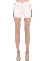 Mother The Sinner Denim Shorts W Side Bands Array 0X5882618