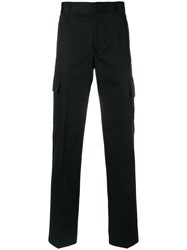 Lanvin Pleated Cargo Trousers Black