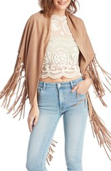 Women's Sole Society Fringed Shawl