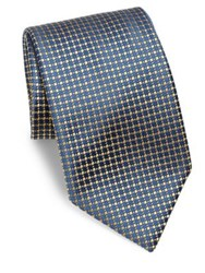 Charvet Dotted Silk Tie Yellow Dot