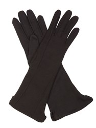 Cornelia James Regina Pure Cotton Gloves Black