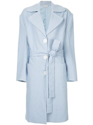 Natasha Zinko Classic Trench Coat Cotton Polyester Blue