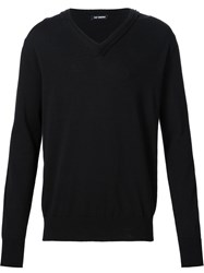 Raf Simons V Neck Sweater Black