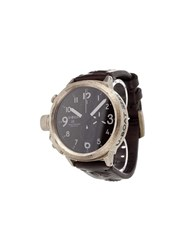 U Boat 'Italo Fontana' Analog Watch Silver