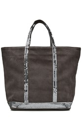 Vanessa Bruno Suede Tote With Sequin Embellishment Grey