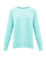 Allude Draped Cashmere Sweater Light Blue