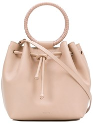 Theory Wax Cord Hoop Shoulder Bag Pink And Purple