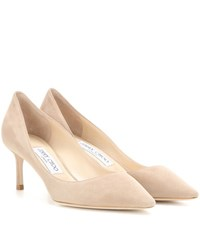 Jimmy Choo Romy 60 Suede Pumps Neutrals