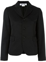 Comme Des Garcons Single Breasted Cropped Blazer Black