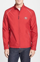 Cutter Buck 'San Francisco 49Ers Beacon' Weathertec Wind And Water Resistant Jacket Big And Tall Cardinal Red