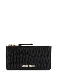 Miu Miu Quilted Leather Card Holder Black