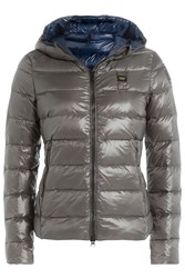 Blauer Quilted Down Jacket With Hood Green