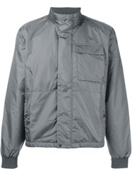 Tomas Maier Funnel Neck Jacket Grey