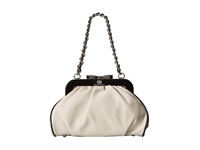 My Flat In London Juliette Frame Bag Cream Black Shoulder Handbags Bone
