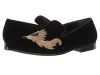 Alexander Mcqueen Embroidered Evening Slipper Black Men's Slip On Shoes