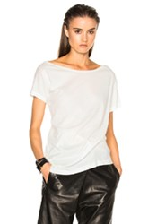 Ann Demeulemeester Short Sleeve Wrap Tee In White