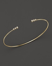 Mizuki 14K Yellow Gold Bangle Cuff With Diamonds