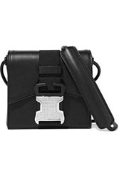 Christopher Kane Bonnie Crystal Embellished Leather Shoulder Bag Black