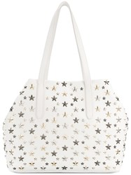 Jimmy Choo Sofia Star Studded Tote White