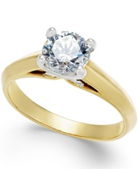 X3 Certified Diamond Engagement Ring 1 Ct. T.W. In 18K Yellow And White Gold