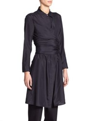The Row Vedon Silk Tunic Navy