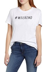 Caslon Off Duty Graphic Tee White Black Weekend