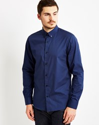 Selected One Chris Shtoni Long Sleeve Shirt Navy