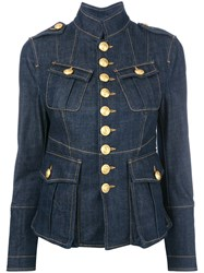 Dsquared2 Livery Tenant Military Jacket Blue