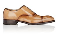 Harris Cap Toe Burnished Leather Balmorals Lt.Brown