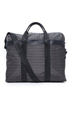 Hugo Boss Nylon Chevron Print Weekender Fantasy Grey