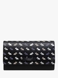 Radley Multi Dog Large Leather Matinee Purse Black