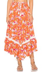 Spell And The Gypsy Collective Revolver Kerchief Skirt Coral