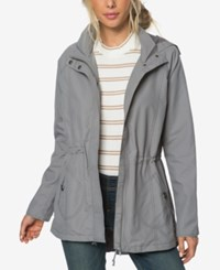 O'neill Juniors' Wendy Hooded Anorak Jacket Charcoal